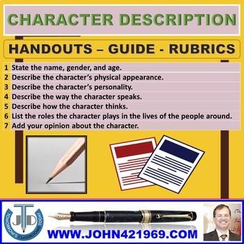 CHARACTER DESCRIPTION GUIDE: HANDOUT