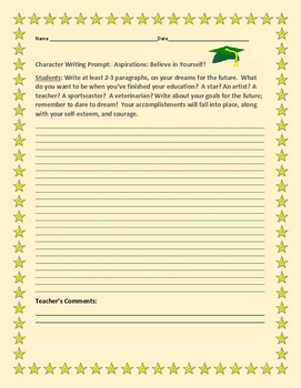 CHARACTER DEVELOPMENT WRITING PROMPT: ASPIRATIONS
