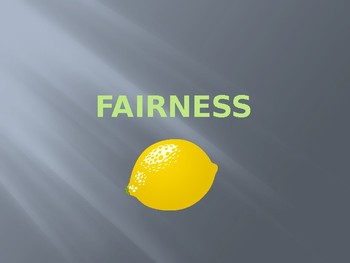 CHARACTER ED FOR HIGH SCHOOL : FAIRNESS