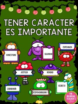 CHARACTER EDUCATION POSTERS IN SPANISH
