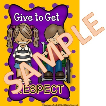 """Classroom Posters: Character Education """"Respect"""" 3 Classroom Decor Posters"""