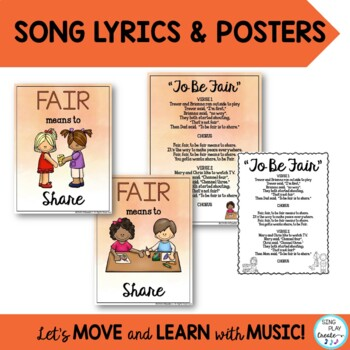 """Song: """"To Be Fair"""" Character Education, Literacy Activities and Mp3"""