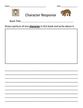 CHARACTER Response Recording Sheet