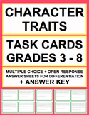 CHARACTER TRAIT TASK CARDS: CHARACTERIZATION