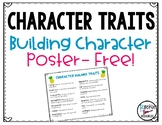 CHARACTER TRAITS BUILDING GOOD CHARACTER POSTER