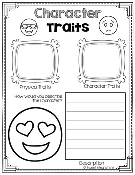 CHARACTER TRAITS EMOJI THEME Cards and Activities