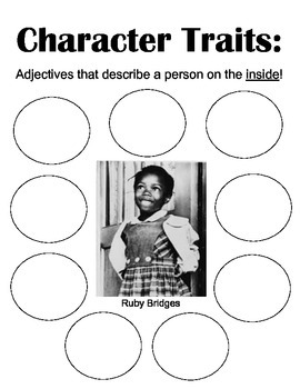CHARACTER TRAITS GRAPHIC ORGANIZER-RUBY BRIDGES