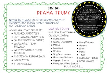 INTRODUCTION TO CHARACTERISATION Drama Unit (5 x 100 min lessons) NO PREP!