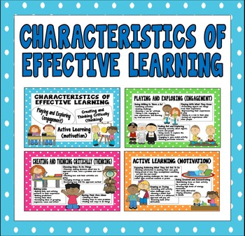 CHARACTERISTICS OF EFFECTIVE LEARNING POSTERS EARLY YEARS