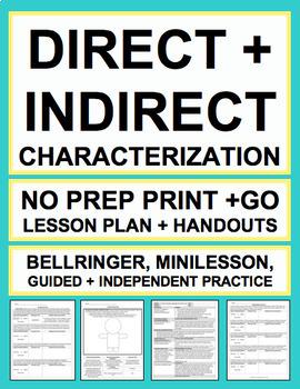 CHARACTERIZATION LESSON PLAN & MATERIALS: NO PREP