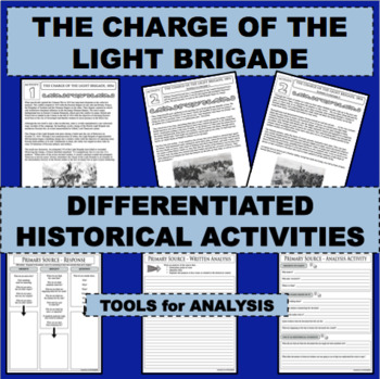 CHARGE OF THE LIGHT BRIGADE Eyewitness Accounts Reading Comprehension