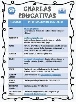 CHARLAS EDUCATIVAS