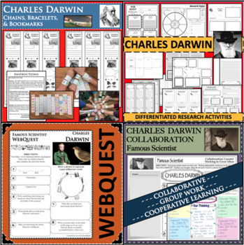 CHARLES DARWIN BUNDLE Science WebQuest Scientist Research Project Biography