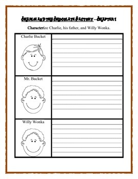 Roald Dahl CHARLIE AND THE CHOCOLATE FACTORY  - Literature Unit