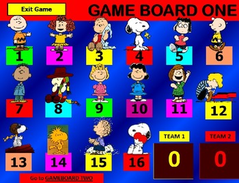 CHARLIE BROWN, PEANUTS, SNOOPY VALENTINE REVIEW GAME TEMPLATE POWERPOINT