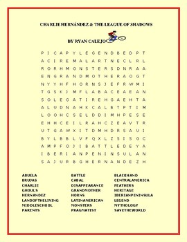 CHARLIE HERNANDEZ & THE LEAGUE OF SHADOWS: A WORD SEARCH