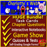 Charlotte's Web Novel Study Unit Print AND Google Paperless + Self-Grading Tests