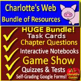 Charlotte's Web NOVEL STUDY Unit Bundle Printable AND Digi
