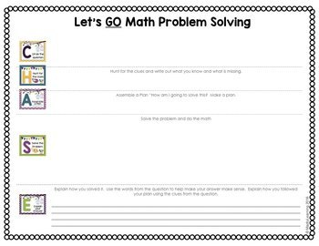 c h a s e math problem solving strategy by madly learning tpt. Black Bedroom Furniture Sets. Home Design Ideas