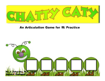 CHATTY CATY An Articulation Game for /R/ Practice- Speech Therapy