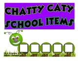 CHATTY CATY SCHOOL ITEMS- Speech Therapy