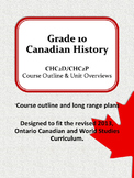 CHC2D Course Outline and Long Range Plans