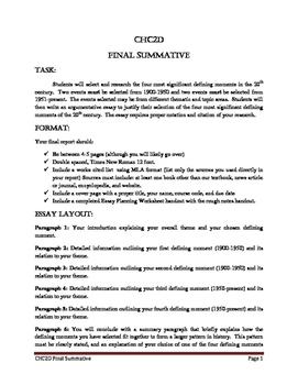 CHC2D Summative