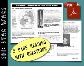CHC2P CHC2D Cold War: Strategic Defence Initiative or SDI