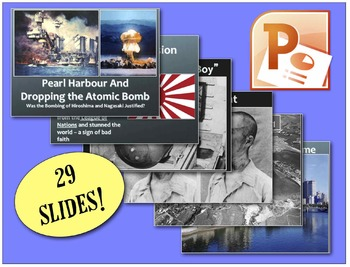 Dropping atomic bomb teaching resources teachers pay teachers chc2p chc2d world war two pearl harbor the dropping of the atomic bomb fandeluxe Choice Image