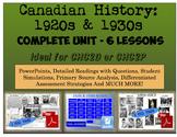 CHC2P CHC2D 1920s & 1930s: Entire Unit
