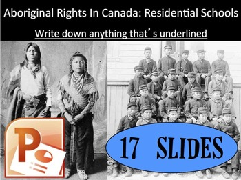 CHC2P CHC2D 1920s & 1930s: Residential Schools