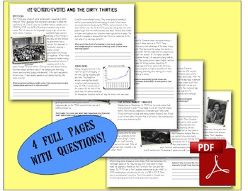 CHC2P CHC2D 1920s & 1930s: Stock Market Crash of 1929