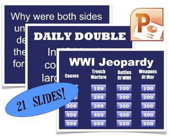 CHC2P CHC2D WWI Jeopardy Review PowerPoint