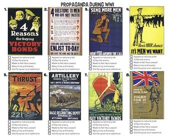 CHC2P CHC2D WWI Propaganda Lesson and Activity