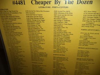 ÇHEAPER BY THE DOZEN  #4481