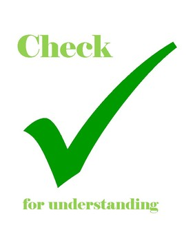 CHECK for Understanding