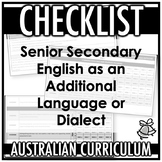 CHECKLIST | AUSTRALIAN CURRICULUM | ENGLISH AS AN ADDITION