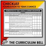 CHECKLIST | AUSTRALIAN CURRICULUM | FOUNDATION TO YEAR 2 DANCE