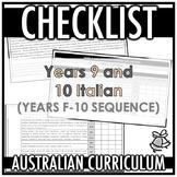 CHECKLIST | AUSTRALIAN CURRICULUM | ITALIAN (F - Y10)
