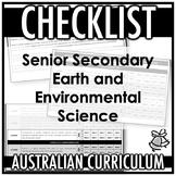 CHECKLIST   AUSTRALIAN CURRICULUM   SENIOR SEC EARTH AND ENVIRONMENTAL SCIENCE