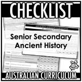 CHECKLIST | AUSTRALIAN CURRICULUM | SENIOR SECONDARY ANCIENT HISTORY