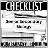 CHECKLIST | AUSTRALIAN CURRICULUM | SENIOR SECONDARY BIOLOGY