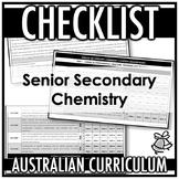 CHECKLIST | AUSTRALIAN CURRICULUM | SENIOR SECONDARY CHEMISTRY