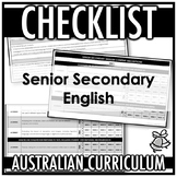 CHECKLIST | AUSTRALIAN CURRICULUM | SENIOR SECONDARY ENGLISH