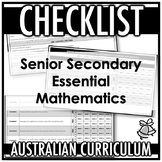 CHECKLIST | AUSTRALIAN CURRICULUM | SENIOR SECONDARY ESSEN