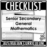 CHECKLIST | AUSTRALIAN CURRICULUM | SENIOR SECONDARY GENER