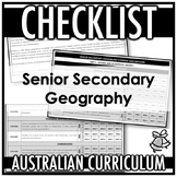 CHECKLIST | AUSTRALIAN CURRICULUM | SENIOR SECONDARY GEOGRAPHY