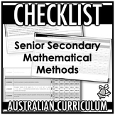 CHECKLIST | AUSTRALIAN CURRICULUM | SENIOR SECONDARY MATHE