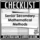 CHECKLIST | AUSTRALIAN CURRICULUM | SENIOR SECONDARY MATHE