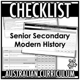 CHECKLIST | AUSTRALIAN CURRICULUM | SENIOR SECONDARY MODER